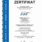 ISO 9002:2015 Zertifikat