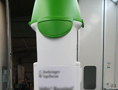 """Reklamní předměty: """"Inhalátor"""", výška 3 m"""
